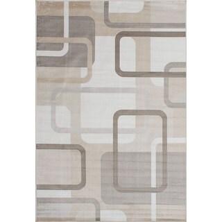 eCarpetGallery Moda Ivory Viscose Rug (7'7 x 7'7)