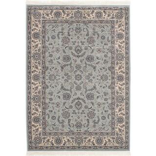 eCarpetGallery Royale Blue Viscose Rug (5'2 x 7'5)