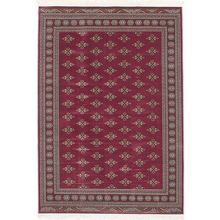 eCarpetGallery Royale Red Viscose Rug (5'3 x 7'6)