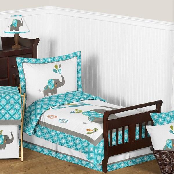 Sweet Jojo Designs Mod Elephant Comforter Set