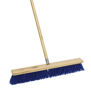 "Harper 587924SC 24"" Rough Surface Outdoor Push Broom With Handle"