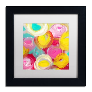 Amy Vangsgard 'Rose Garden Circles Square 1' Matted Framed Art