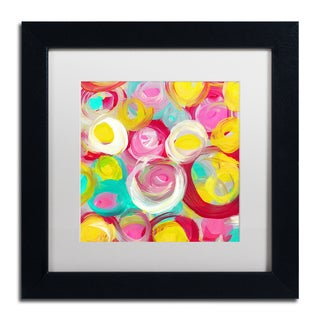 Amy Vangsgard 'Rose Garden Circles Square 3' Matted Framed Art