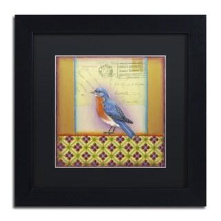 Rachel Paxton 'Small Bird 204' Matted Framed Art