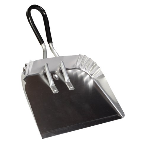 "DQB Industries 72541 17"" Metal Dust Pan With Soft Grip Handle"
