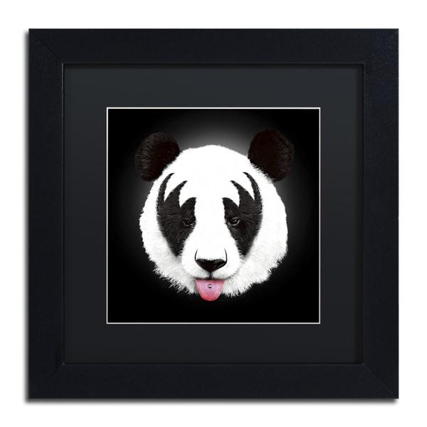 Robert Farkas 'Kiss Of A Panda' Matted Framed Art
