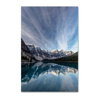 Pierre Leclerc 'Moraine Lake Sky' Canvas Art