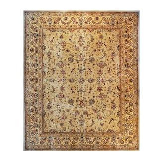 Trastavere Sage Wool/Silk Hand-tufted Rug (7'9 x 9'9)