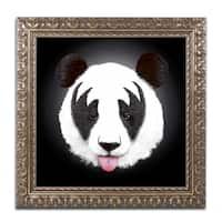 Robert Farkas 'Kiss Of A Panda' Ornate Framed Art