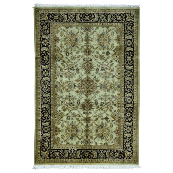 Hand Knotted Persian Kashan Wool Area Rug Ebth: Shop Indo Kashan Oriental Green Wool Hand-knotted Area Rug