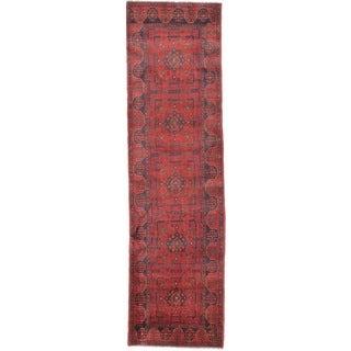 eCarpetGallery Red Wool Hand-knotted Khal Mohammadi Runner Rug (2'8 x 9'7)