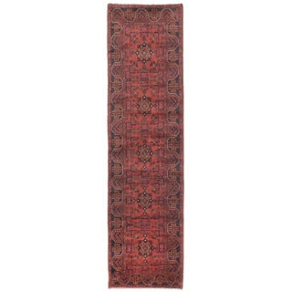 eCarpetGallery Khal Mohammadi Red Wool Hand-knotted Rug (2'6 x 9'6)