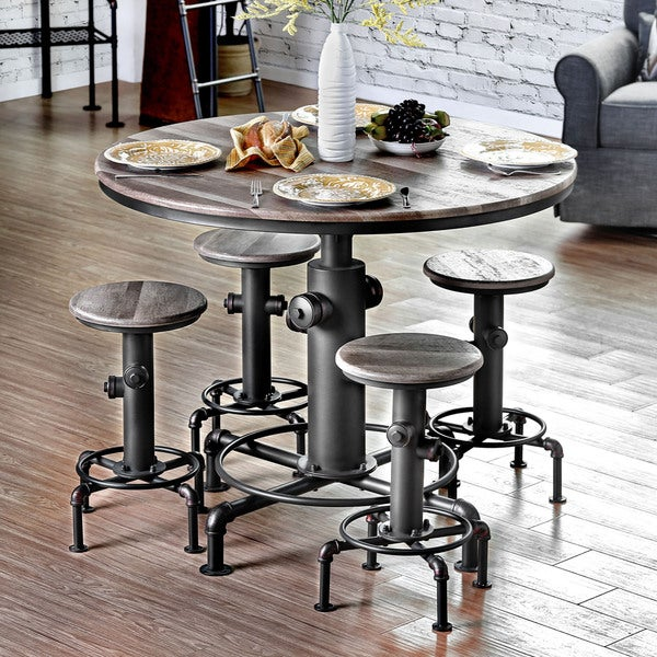 Counter Height Metal Table : ... of America Protector Hydrant Inspired Metal Counter Height Round Table