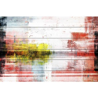Parvez Taj - 'I See Yellow' Painting Print on White Wood