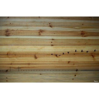 Handmade Parvez Taj - In Formation Print on Natural Pine Wood