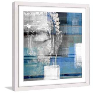 Parvez Taj - 'Blue Buddha' Framed Printing Print