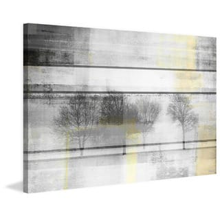 Handmade Parvez Taj - Peaceful Grays Print on Wrapped Canvas
