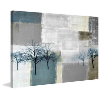 Parvez Taj - 'Blue Trees' Painting Print on Wrapped Canvas