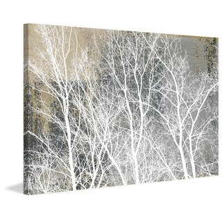 Parvez Taj - 'Frosty White Branches' Painting Print on Wrapped Canvas