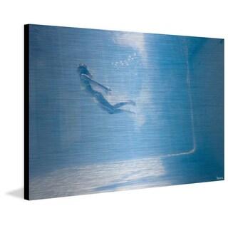 Parvez Taj - 'Through the Blue' Painting Print on Brushed Aluminum