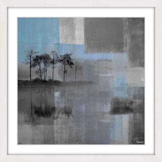 Parvez Taj - 'Blue Horizon' Framed Painting Print