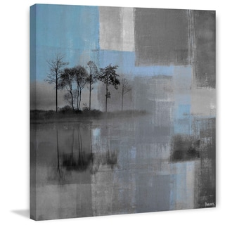 Parvez Taj - 'Blue Horizon' Painting Print on Wrapped Canvas