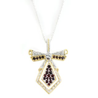 One-of-a-kind Michael Valitutti Arizona Anthill Garnet with White Topaz Pendant