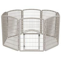 IRIS 8-panel 34-inch Gated Pet Exercise Playpen