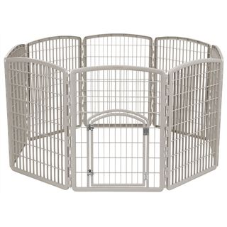 IRIS 8-panel 34-inch Gated Pet Exercise Playpen (More options available)