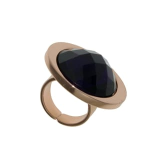 Isla Simone - 18 Karat Rose Gold Electro Plated Bronze Ring With Amethyst