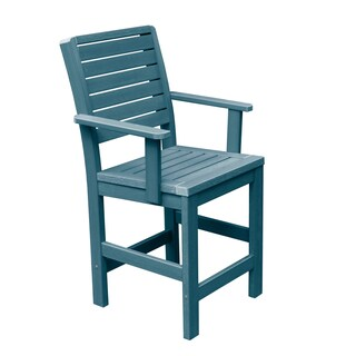 Highwood Eco-friendly Weatherly Counter-Height Armchair (Option: Nantucket Blue)