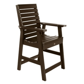 Highwood Eco-friendly Marine-grade Synthetic Wood Weatherly Counter-height Armchair