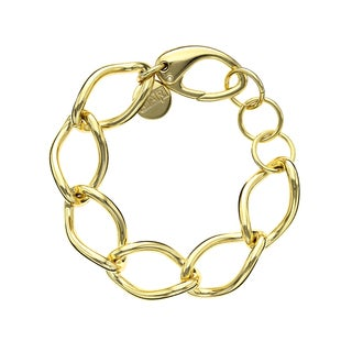 Isla Simone - 18 Karat Gold Electro Plated Large Twisted Link Bracelet