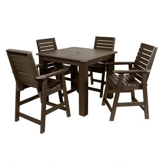 Highwood Eco-friendly Marine-grade Synthetic Wood 5-piece Weatherly 42 x 42-inch Square Counter Height Dining Set