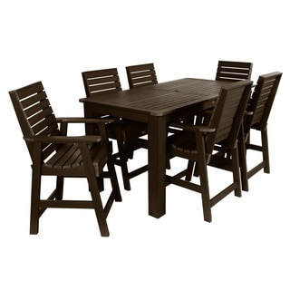 Highwood Eco-friendly Marine-grade Synthetic Wood 7-piece Weatherly Rectangular Counter Height Dining Set