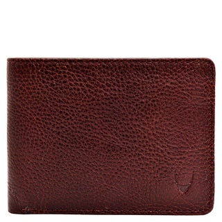 Hidesign Giles Brown Leather Classic Slim Bifold Wallet
