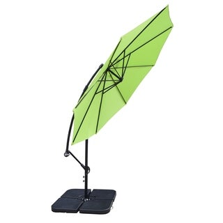 Troy 10-foot Umbrella and 4-piece Polyresin Stand