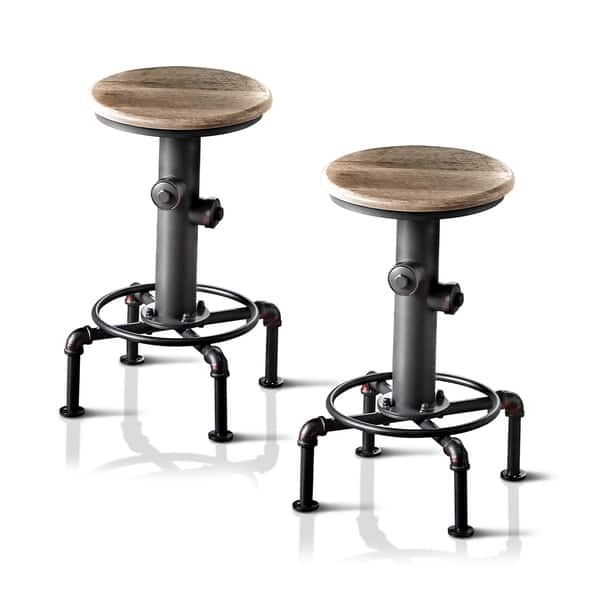 Incredible Protector Industrial Antique Black Counter Stools Set Of 2 By Foa Dailytribune Chair Design For Home Dailytribuneorg