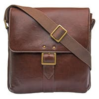 Hidesign Vespucci Edium Vertical Buffalo Leather Messenger Bag