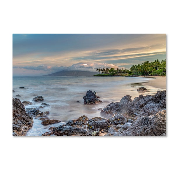 Pierre Leclerc 'Secret Beach Sunrise Maui' Canvas Art
