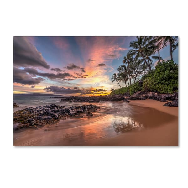 Shop Black Friday Deals On Pierre Leclerc Hawaiian Sunset Wonder Canvas Art Overstock 12933838