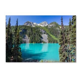 Pierre Leclerc 'Turquoise Lake' Canvas Art