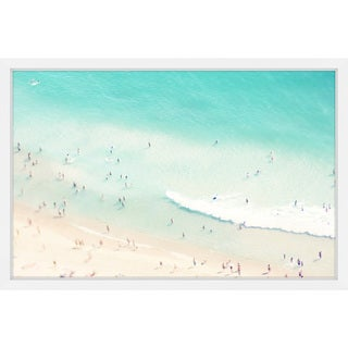 Link to Marmont Hill - Handmade Playing in the Surf Framed Print Similar Items in Art Prints