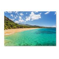 Pierre Leclerc 'Makena Beach Maui' Canvas Art - Multi