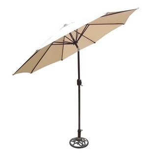 Oakland Living Oasis 9-foot Tilt and Crank Umbrella and Stand