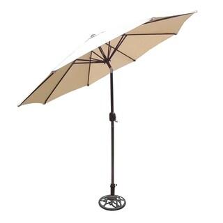 Oakland Living Oasis 9-foot Tilt and Crank Umbrella and Stand