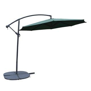 Troy Forest Green Aluminum 10-foot Umbrella and 4-piece Polyresin Stand