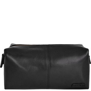 Hidesign Charles Leather and Waterproof Interior Lining Toiletry Travel Bag