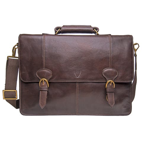 Hidesign Parker Large Leather Laptop Briefcase