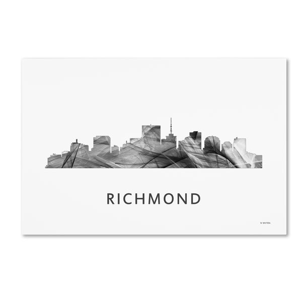 Marlene Watson 'Richmond Virginia Skyline WB-BW' Canvas Art
